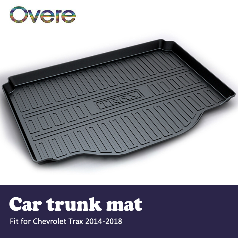 Overe 1Set Car Cargo rear trunk mat For Chevrolet Trax 2014 2015 2016 2017 2018 Boot Liner Waterproof Anti-slip mat Accessories free shipping luxury pu leather car trunk mat cargo mat for chevrolet malibu holden 2016 9th generation