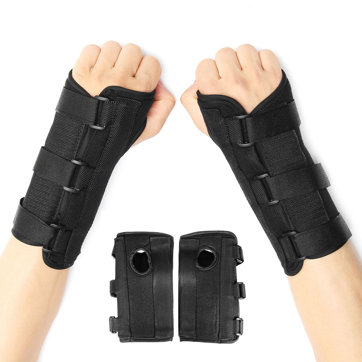 Best quality 1 Pair Carpal Tunnel Wrist Support Sprain Forearm Splint Orthotic Brace Bandage Belt Sports Wrist Protector belt
