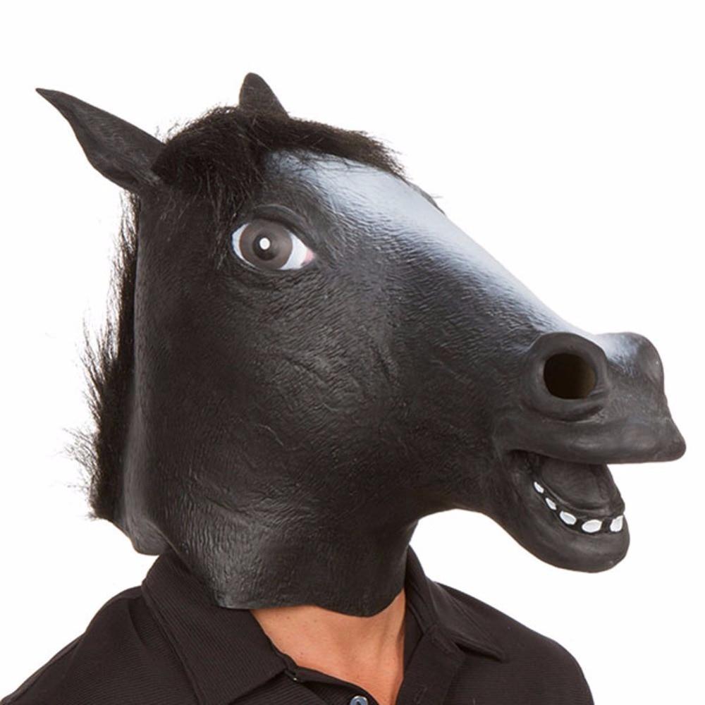 Naujųjų metų žirgų galvos kaukė Gyvūnų kostiumas n Žaislai - Šventės ir vakarėliai - Nuotrauka 4