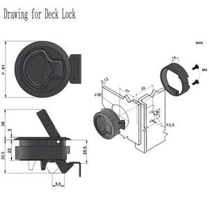 Image 2 - 4 adet sıcak satış siyah yuvarlak güverte kilit gömme çekme Slam mandalı kaldırma kolu tekne deniz mandalı RV güverte kapak kapı değiştirme