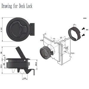 Image 2 - 4 pçs venda quente preto round deck lock flush pull slam trava elevador alça para barco marinha trava rv deck escotilha porta substituição