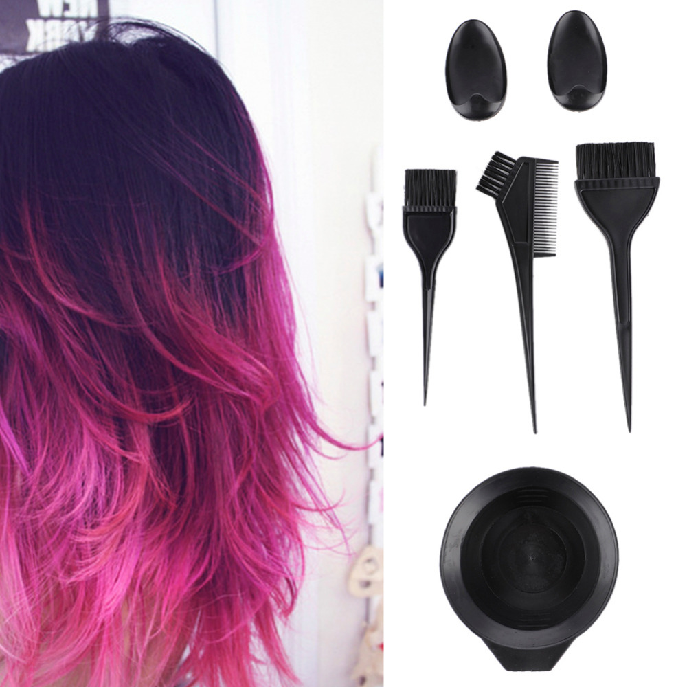 Online color mixer tool - 6pcs Plastic Salon Hair Dye Tint Tool Set Hair Colouring Brush Comb Mixing Bowl Barber Salon