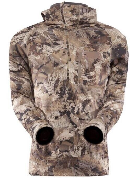 ФОТО 2017 Spring Men Sitka Hoody Thin Half -Zipper Jacket Sitka Hunting Sports Hiking Jackets Camouflage Size 2XL Outside Jackets