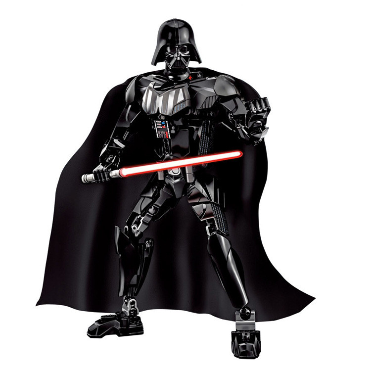 NEW KSZ Star Wars 7 Darth Vader with Lightsaber White Storm Trooper w/gun Figure toys building blocks set compatible with legoe costume party star wars light saber blue and red starwar telescopic lightsaber cosplay 33 7 interactive sword model kids toys