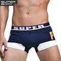 SUPERBODY High Quality Brand Mens Sexy Underwear Boxers Shorts Cotton Men Boxers Splice Trunks Penis Pouch Underpants 2016 New