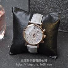 GUOU gris calendario cinturón de dama de la moda de seis pines multifuncional personalidad de Oro Rosa Reloj de Diamantes