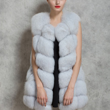 2016 New Women Winter Sleeveless Faux Fox Fur Leather Thick Coat Outerwear Vest Plus Size Padded Jacket Overcoat Parka Q1778