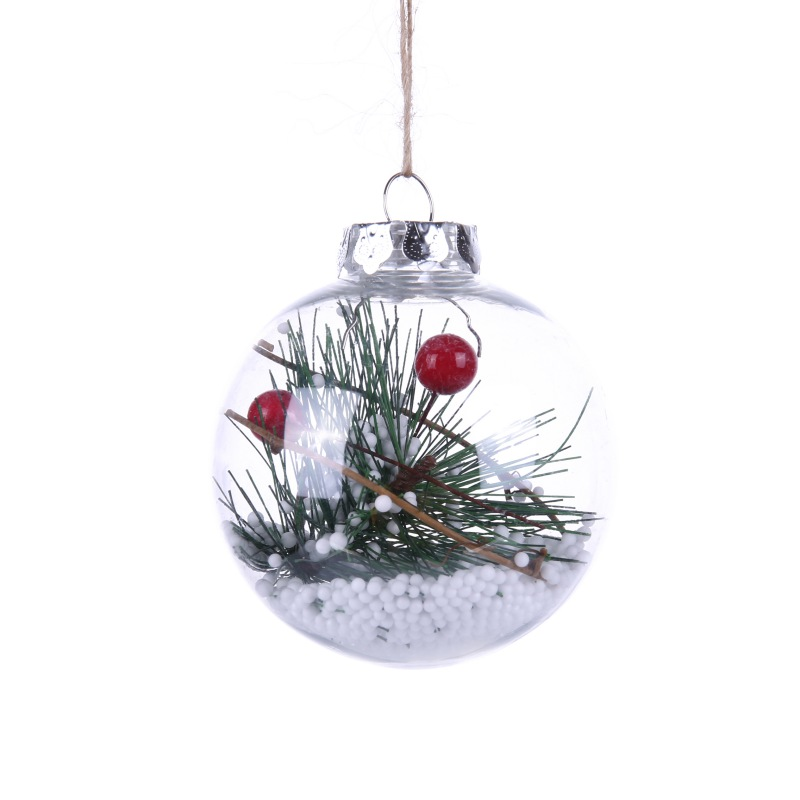 80MM Refillable Round Clear Plastic Ball Ornaments ...