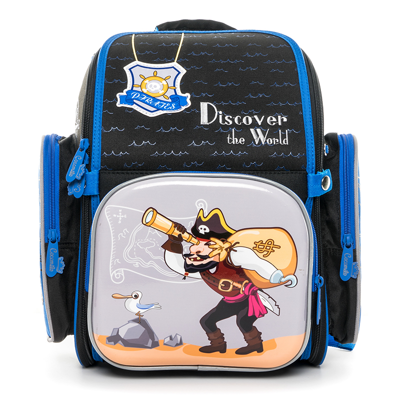 Cocomilo 2018 School Bags For Boys Girls Cartoon Backpack Pirate Pattern Children 39 s Orthopedic Schoolbag Mochila Infantil in School Bags from Luggage amp Bags
