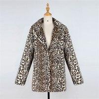 Lanshifei 2018 New Type Bulk European Parka Women Jacket Woman Winter Wear Faux Fur Coat Ladies' Leopard Print Short Fur Jacket