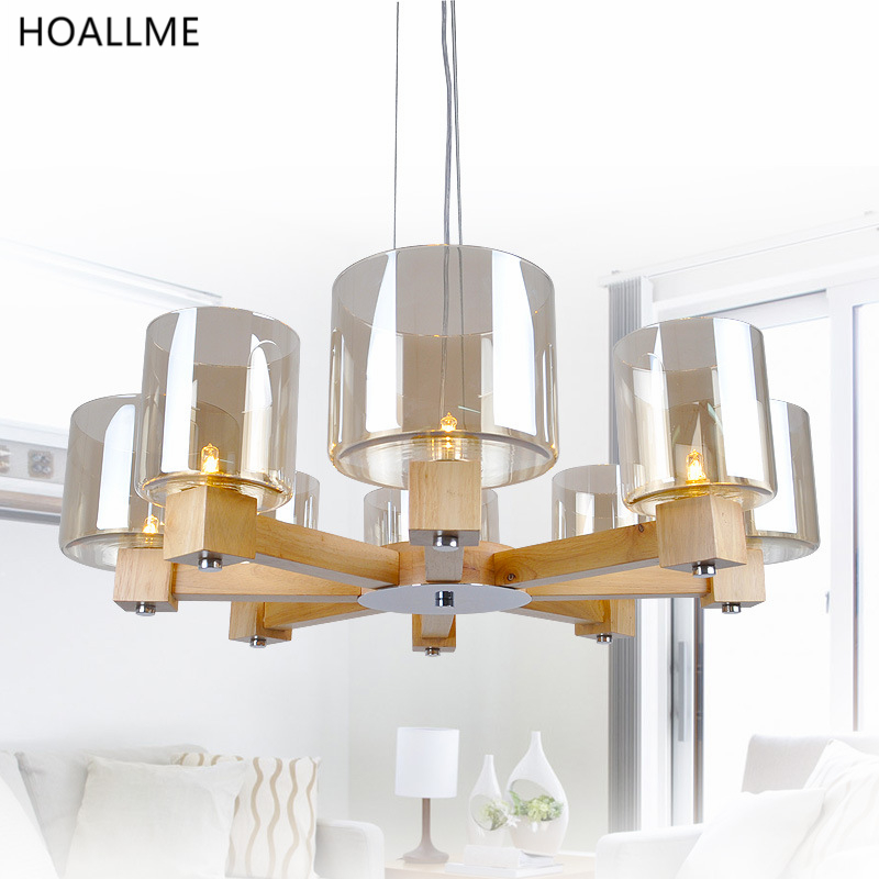 New Clical Log Style Led Pendant Lights Hanging Lamp Droplight Used For Dining Room Bedroom Hotel Hall Bar Parlor 90 260v In From