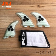 FREE SHIPPING quality FCS II G5 fins with fiberglass and honeycomb material for surfing FCS 2 size M with fin bag