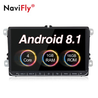 NaviFly Android8.1 car multimedia player for Skoda Fabia Limousine Praktic Octavia Rapid Yeti Superb Roomster with CANBUS