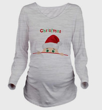 2018 Autumn Women 3D T-Shirt Maternity Christmas Tees Long Sleeve Lovely Baby Print T Shirt Pregnant Tops Clothes