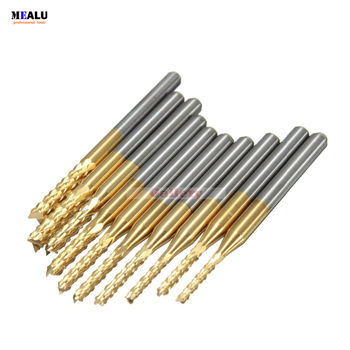 цена на 10 Pcs 1.5mm-3 175 Mm Carbide End Mill Engraving Bits for Cnc Rotary Burrs 3 Grinder Gear Milling Cutter 1 Mill Grinder