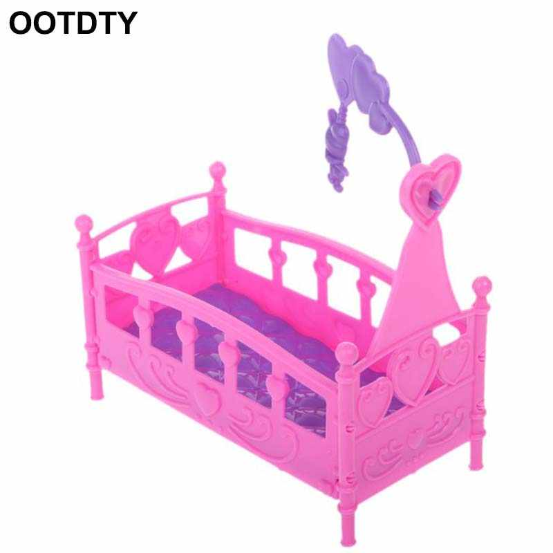 Rocking Cradle Bed Doll House Toy Furniture For Kelly Barbie Doll Accessories Girls Toy Gift Baby Shower Gift Girls Toy