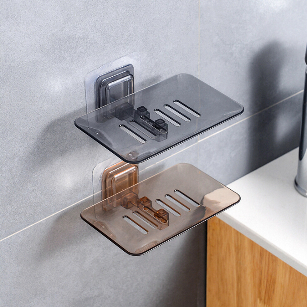 Single Layers Suction Soap Box Kitchen Tools Bathroom Accessories Soap Dish Suction Holder Storage Basket Soap Box Stand