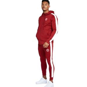2020 Spring New Men Hoodies Pants 2Pcs/Sets Sweatshirt Sweatpants Male Gyms Fitness Tops Trousers Joggers Sportswear Tracksuits