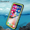 Seonstai For IPhone X Waterproof Case 360 Degree Protector Swimming Dive Cases For IPhone X Water