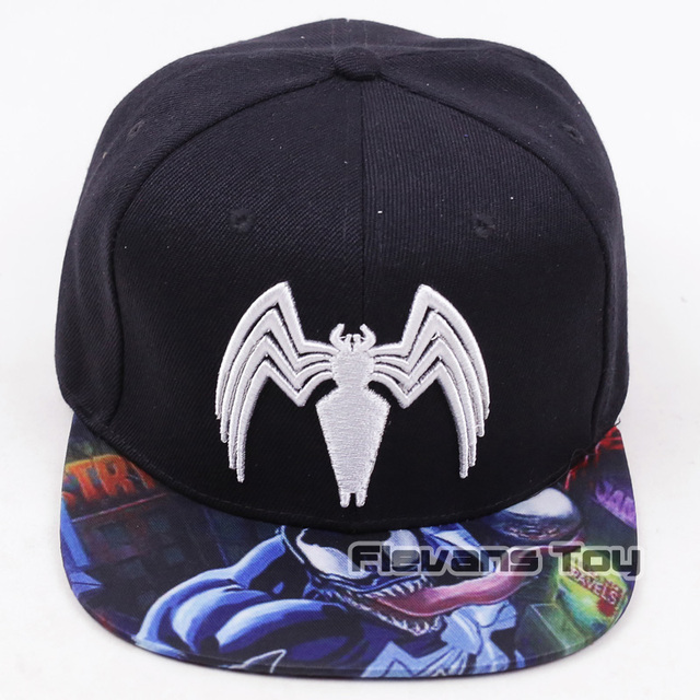 Marvel Comics Venom Snapback Caps Cool Fashion Letter Baseball Cap Bboy Hip-hop  Hats For Men Women 876818d37d6a