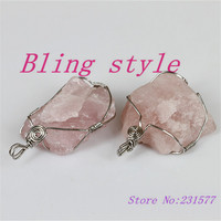1pc hot charm natural crystal druzy drusy stone silve alloy wrapped  druzy onyx stone in pink color for women jewelry