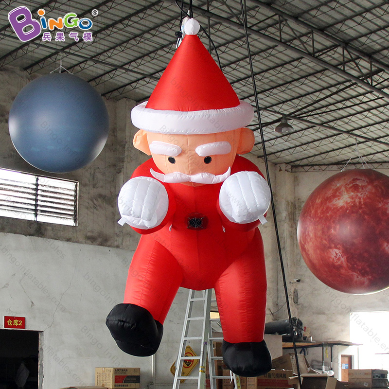 Free delivery 1.8M hanging Inflatable Santa Claus for Christmas party decoration Father Christmas for wall decoration toys Free delivery 1.8M hanging Inflatable Santa Claus for Christmas party decoration Father Christmas for wall decoration toys