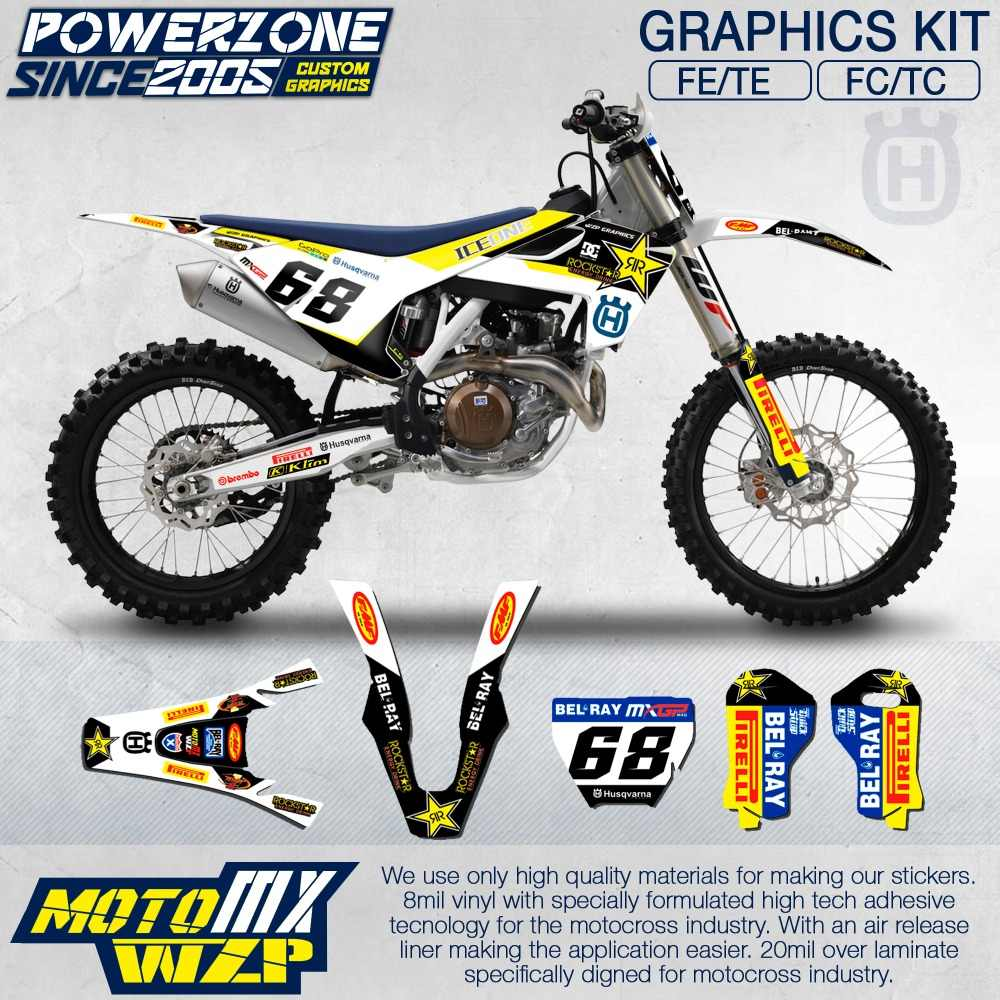 Detail feedback questions about customized team graphics backgrounds decals 3m custom stickers kit for husqvarna 2015 16 17 18 fe te fc tc 250 350 450 500cc