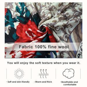 Image 5 - ขนสัตว์ผ้าพันคอผู้หญิงผ้าคลุมไหล่ Elegant ผ้าพันคออบอุ่นผ้าคลุมไหล่ผ้าพันคอผ้าพันคอผ้าพันคอแบรนด์หรูมุสลิม Hijab ชายหาดผ้าห่ม Face Shield Foulard
