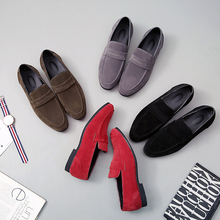 цена на Fashion Spring Summer Style Soft Moccasins Men Loafers High Quality Suede Leather Shoes Men Flats Driving Shoes Big Size 37-48