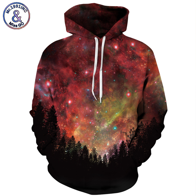 Mr.1991INC Europe America Hot night Star Sky Casual Sweatshirts Men Hooded Hoodies Men Pullovers hoodie Sweatshirt S-3XL M080