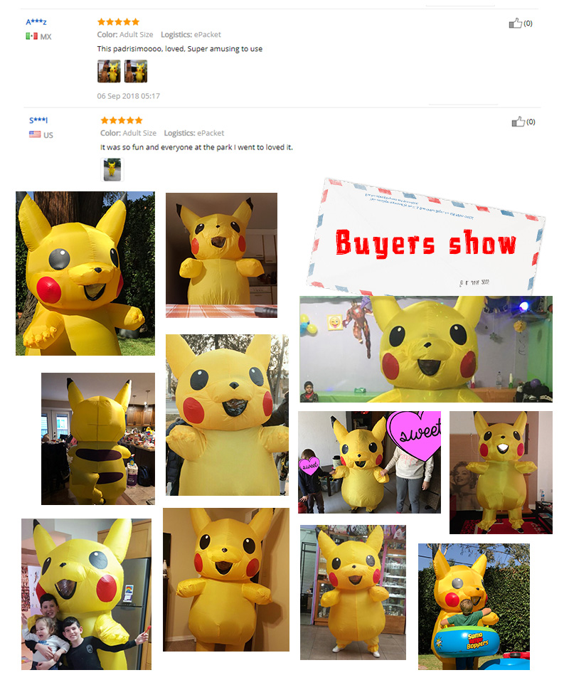 Inflatable Pikachu Costume -1