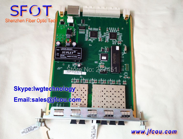 Original GU6F Fiberhome OLT Tabla de Enlace Ascendente, utilizado En Fiberhome AN5516-06/AN5516-01/AN5516-06B OLT..