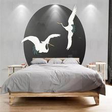 Креативные обои простой фон журавль настенное украшение живопись