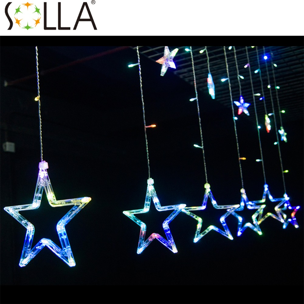 2016 2 m 138 LED Light Outdoor Home Warm White Christmas Decorative xmas String Fairy Curtain Star Party Lights For Wedding 2w 3500k 40 led warm white decorative string light warm white 4m