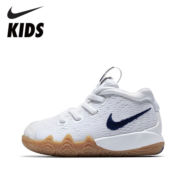 NIKE Kids Official Kyrie Kids Outdoors Running Shoes Breathable White Sneakers Shoes For Child AA2898