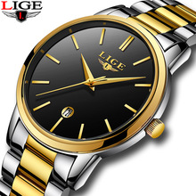 лучшая цена Men Watch LIGE Simple Style Brand New Fashion Casual Model Classic Luxury Waterproof Quartz Watch Business Watch Relogio Man