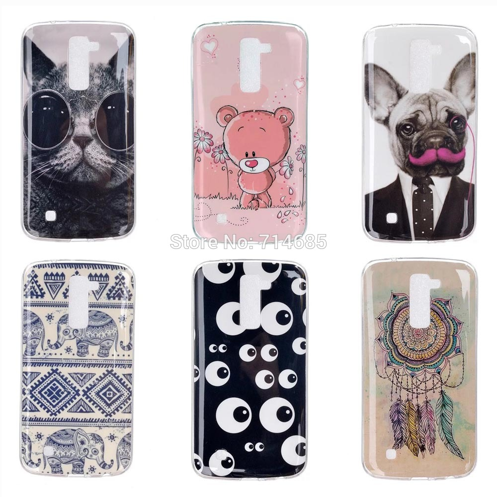 low priced 49bdf e9f55 US $1.51 |IMD TPU Luxury Quality Soft Silicone Protective Phone Case for LG  K7 LTE Back Cover Skin 5.0