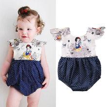 Newborn Baby Girls Cartoon Dot Romper Jumpsuit Outfits Cloth