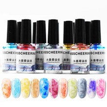 12 Colors Nail Ink Smudge Blisters Marbling Gradient Dyeing Painted  Nails Salon Design Colorful Manicure Painting Gel