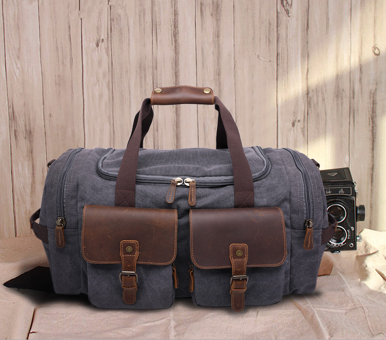 Canvas Leather Men Travel Bags Carry on Luggage pocket Men Duffel Bags Tote Large Weekend Overnight Folding Trip Waterproof bags casual men oxford travel bags large capacity carry on luggage bags black new travel tote folding waterproof trip bag handbag dh5