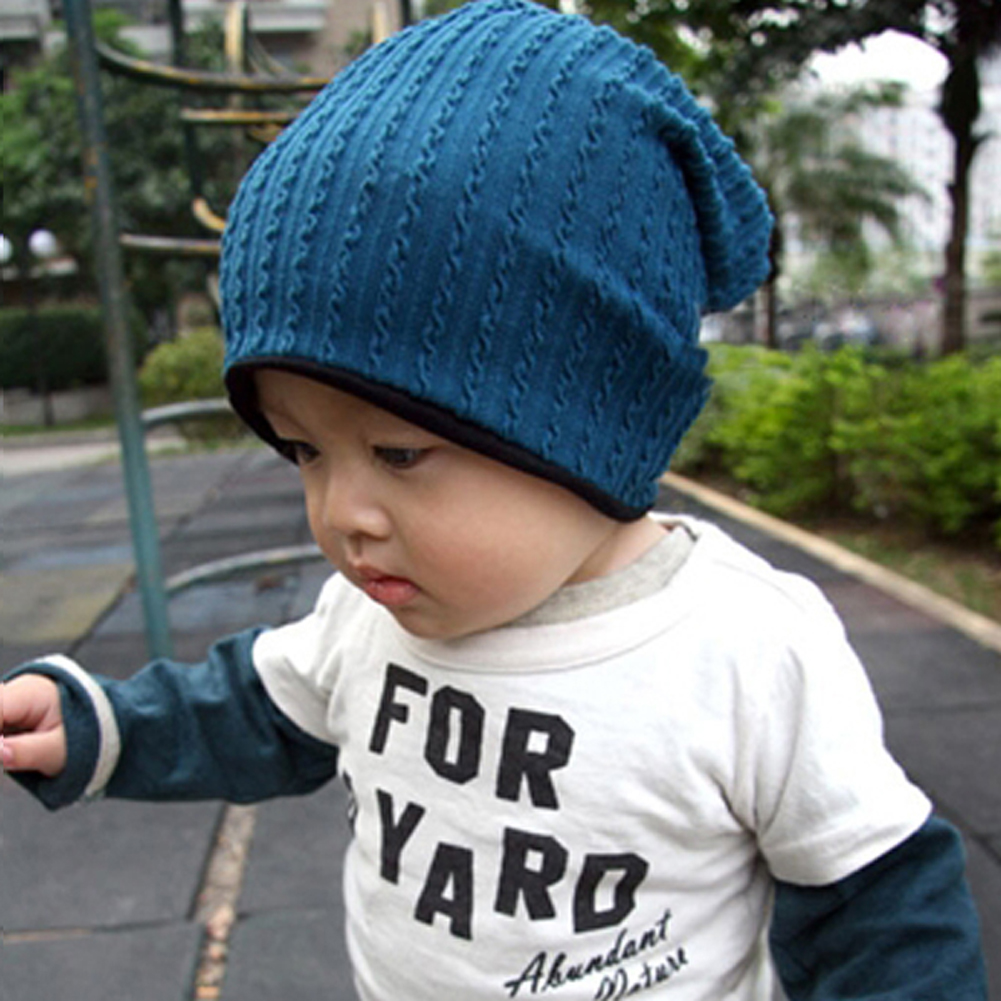 c9e9c499567 ... fashion winter hat for baby warm crochet knitted toddler kid hat solid  color cute baby beanie ...