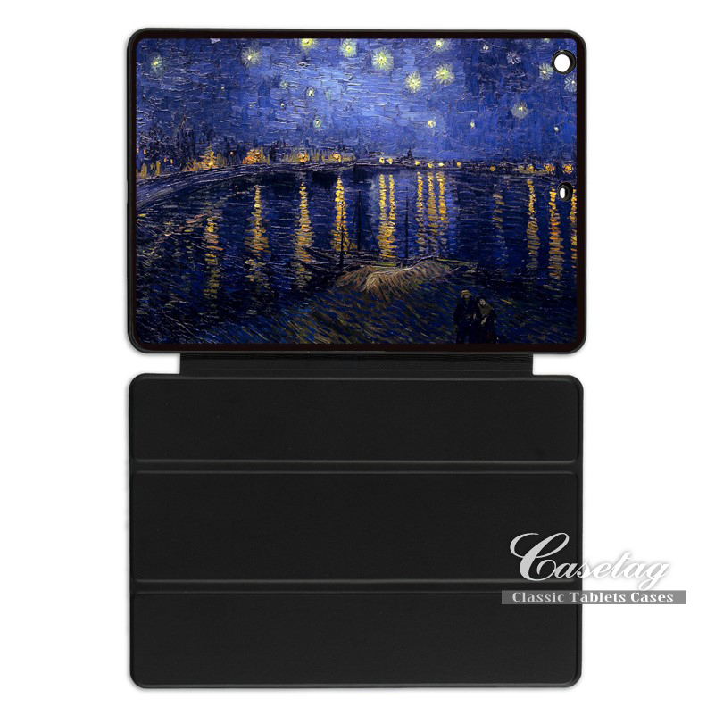 Van Gogh Retro Art Starry Night 1888 Smart Cover Case For Apple iPad 2 3 4 Mini Air 1 Pr ...
