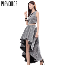 PLAYCOLOR 2 Piece Sleeveless Glitter font b Cocktail b font font b Dress b font Long