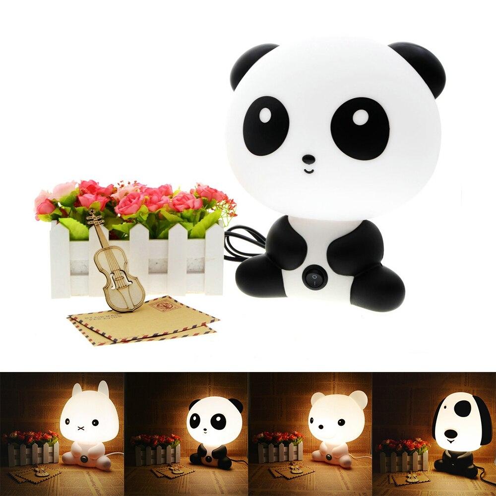 Panda/Kaninchen/Hund/Bear Cartoon Nachtlicht Kinder Bett Lampe Schlafen  Nacht Lampe Tischlampemit Lampe