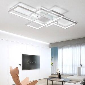 Image 3 - NEO GLeam New Black or White Aluminum Modern Led Chandelier For Living Room Bedroom Study Room AC85 265V Ceiling Chandelier