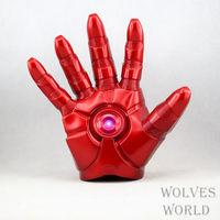 Christmas Free Shipping Marvel Comics Superhero Iron Man Mark Gloves with LED Light Soft PVC Action Figure Toy 1pcs gifts