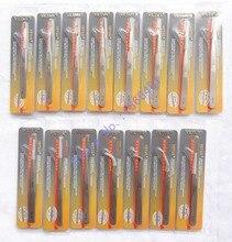 10 pcs/lot pince à épiler VETUS acier inoxydable pince à épiler haute précision