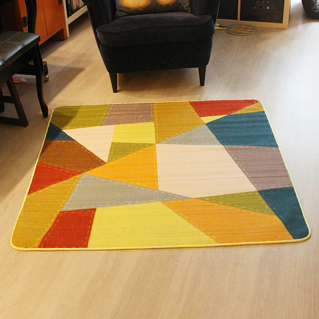Winlife Square Shaped Geometric Joint Carpet Home Rugs Kaids Room Mats Baby Crawling Rug Anti