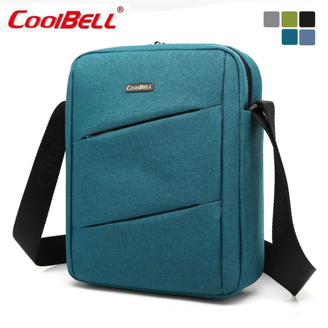 COOLBELL Man Messenger Bag Nylon Male Shoulder Bags Waterproof Famous Brand  Fashion Casual Business Men s Travel Bags F IPAD-50 a6c81d298191a