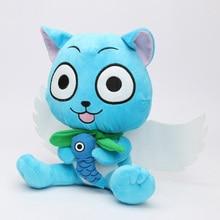 23 cm Baru Super Lucu Fairy Tail selamat Cat Biru Kartun Lembut Mainan  Mewah boneka mainan boneka Hadiah untuk Anak-anak 33973bd120